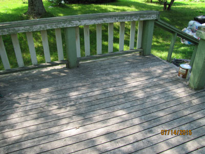 deck cleaning restore stain